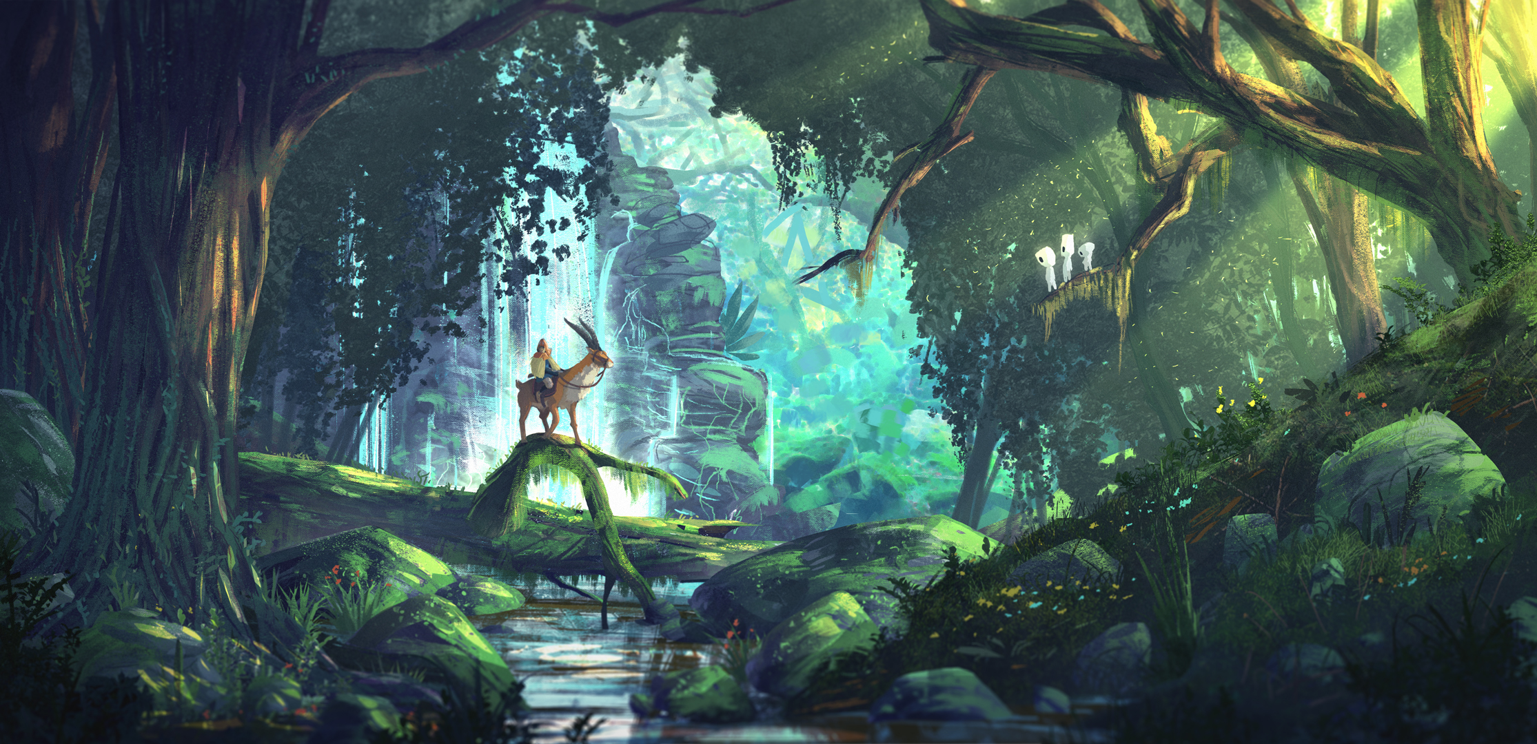 Princess Mononoke Painted Forest Wallpaper High Res