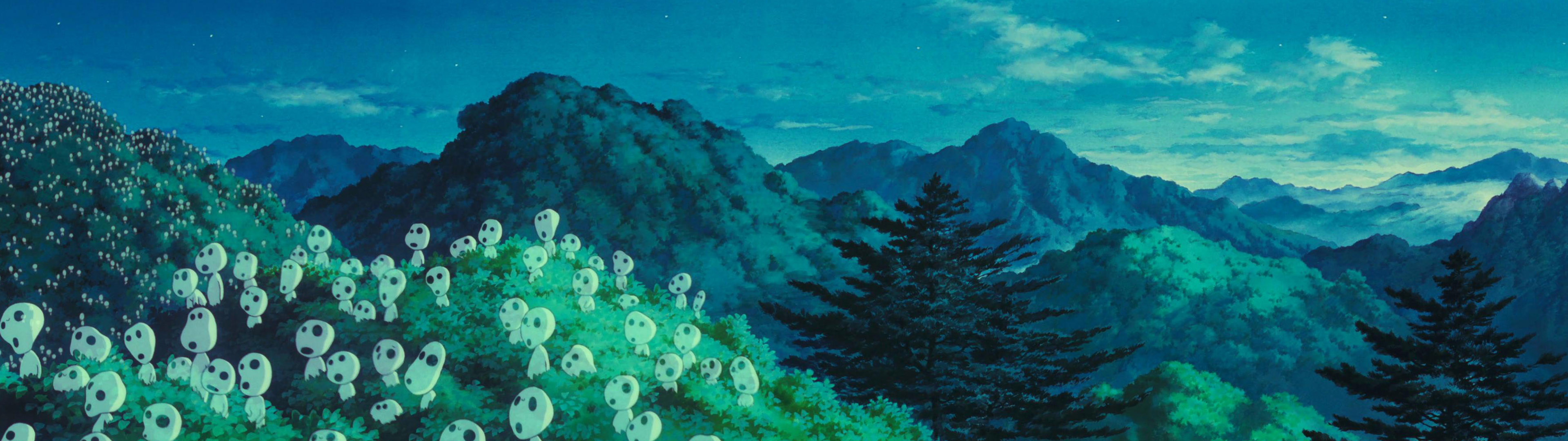 princess mononoke kodama background desktop wallpaper