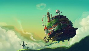 Howls moving castle wallpaper HD