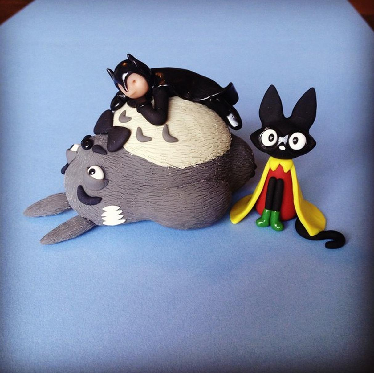 1 - Alfred-Totoro Robin-Jiji and Batman
