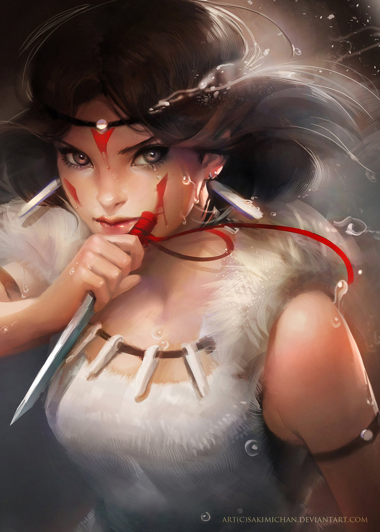 princess_mononoke__prints_for_sale__by_sakimichan-d4jw7ry