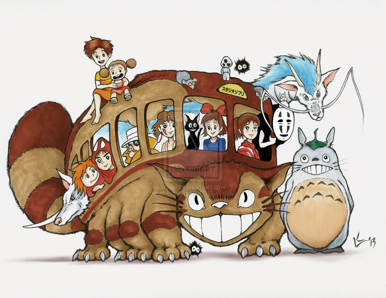 Catbus Fanart  Drawing And Art From My Neighbor Totoro