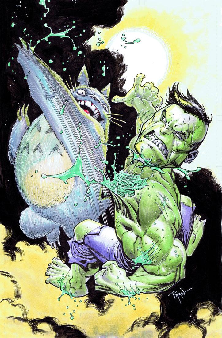 hulk_vs_totoro_by_wya-d34u6yi