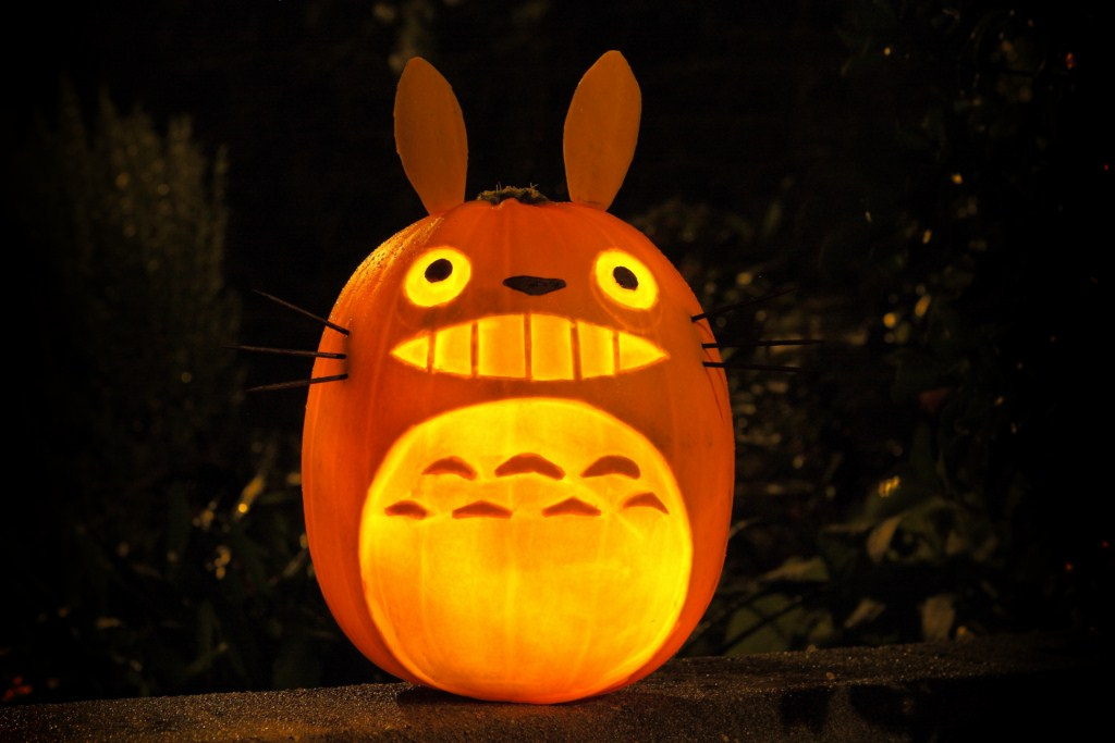 Amazing studio ghibli pumpkin pattern