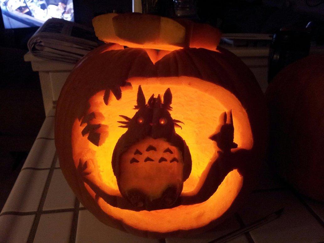 amazing studio ghibli pumpkin pattern