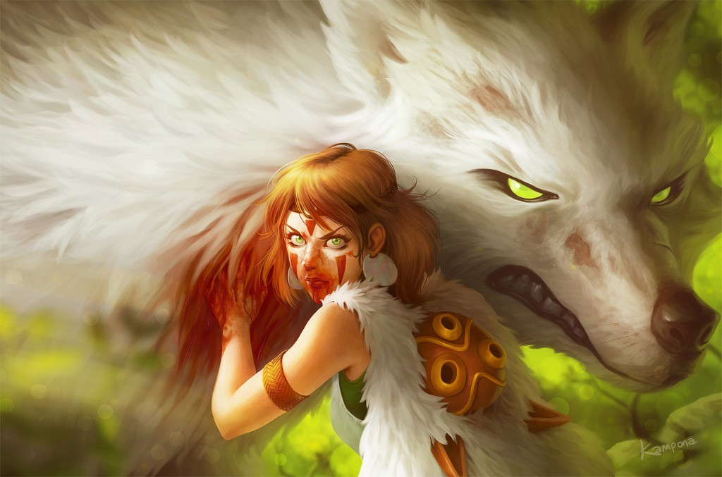 Princess Mononoke by Kampona
