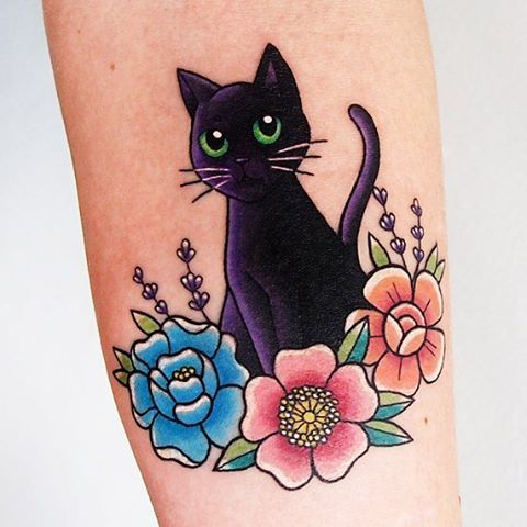 one-more-black-cat-tattoo-design-21