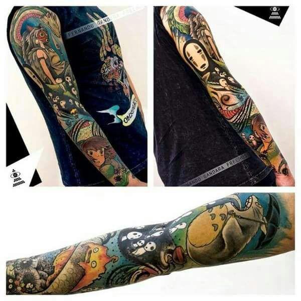 1b664d2d51cde Studio Ghibli Tattoo Sleeves