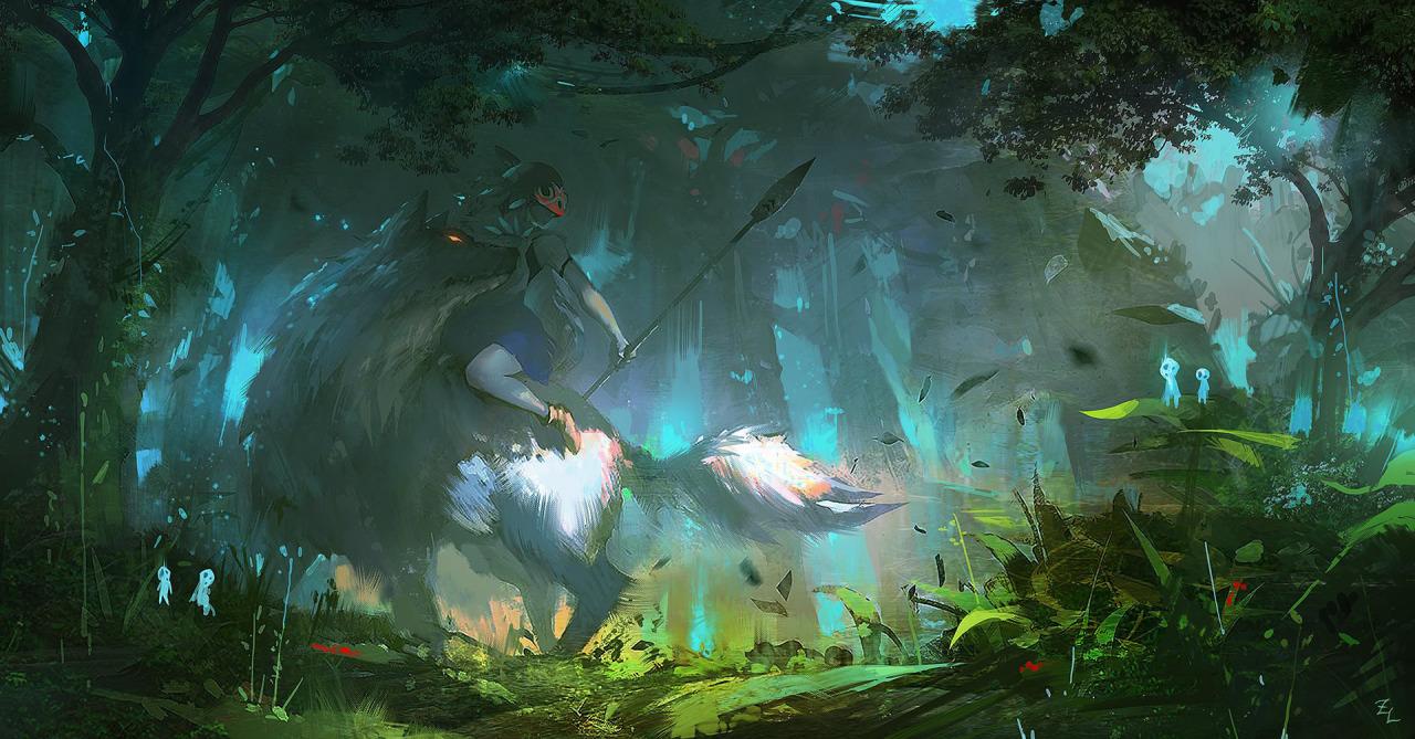 Glamorous princess mononoke wallpaper - Mononoke anime wallpaper ...