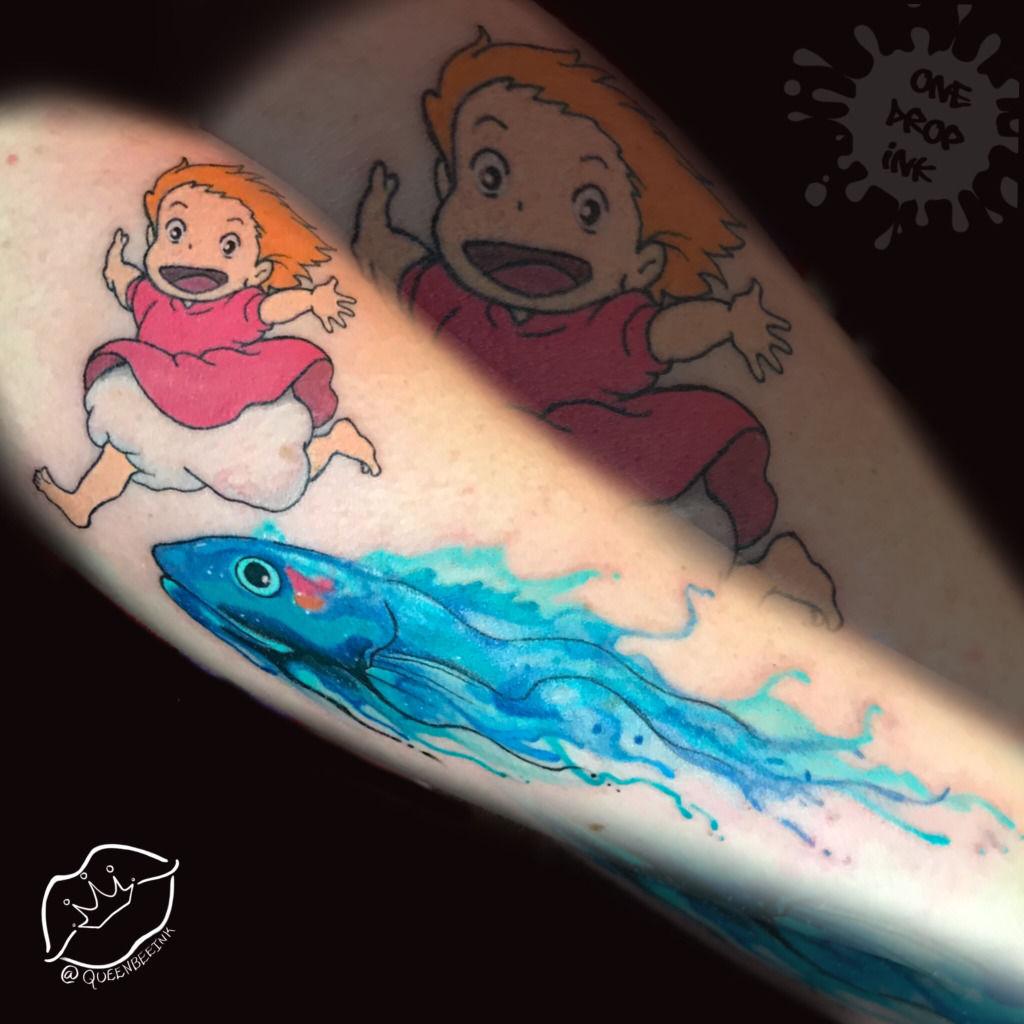Beautiful Little Ponyo Tattoos