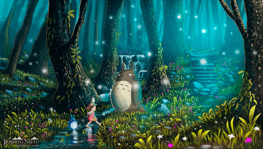 totoro_and_mei___excursion_by_syntetyc-d5h6r5z