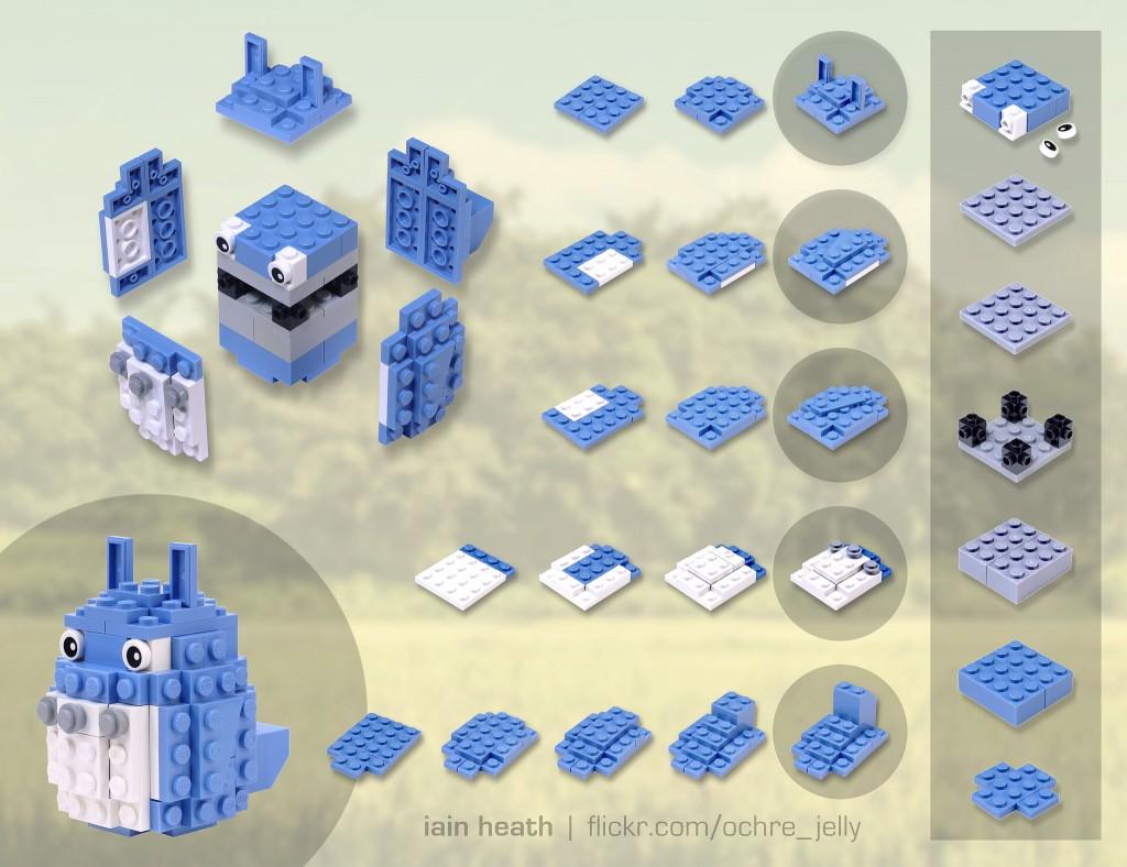 totoro lego buliding guide