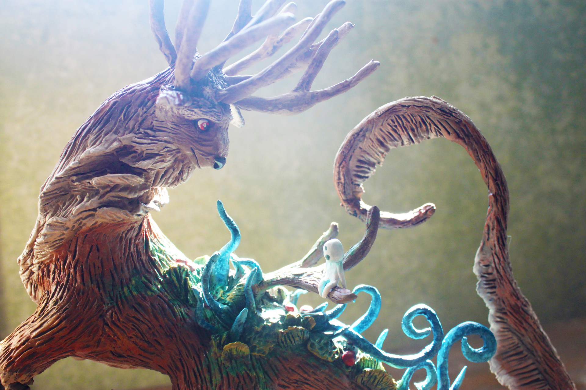 Princess Mononoke Inspired Forest Spirit Figure
