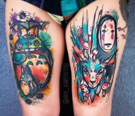 princess mononoke tattoo ideas