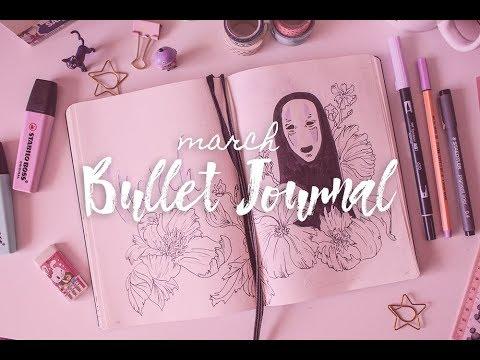 Bullet Journal March 2019 Studio Ghibli